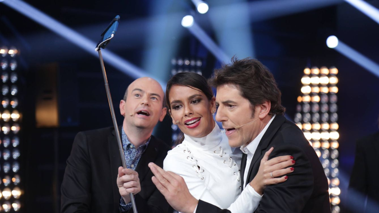 Foto: Cristina Pedroche junto a Jandro y Manel Fuentes (Atresmedia)