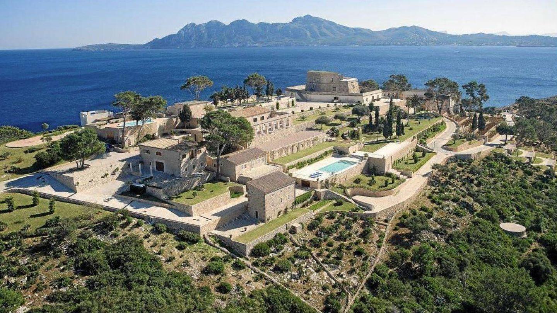 Vista aérea de Sa Fortalesa, la impresionante finca donde tendrá lugar el sábado la boda de Rafa Nadal y Xisca Perelló. (Foto cedida por 'Última Hora')