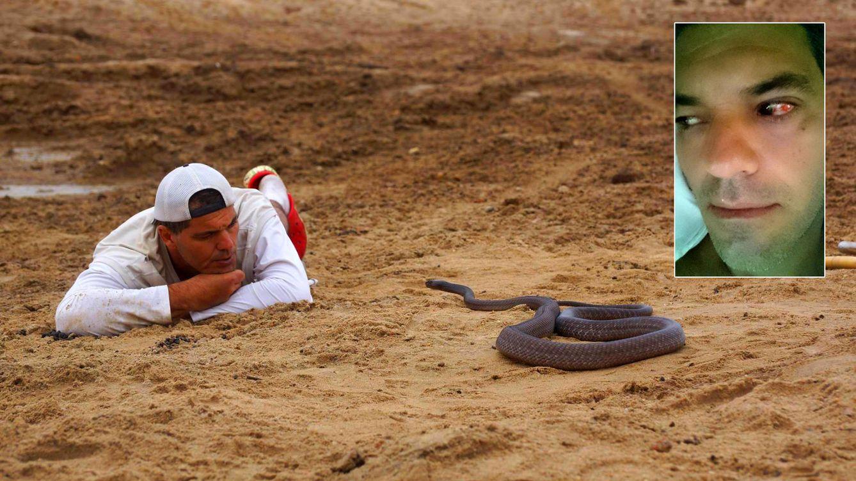 Twitter: Twitter - Frank Cuesta aparca su programa tras ser atacado por una serpiente