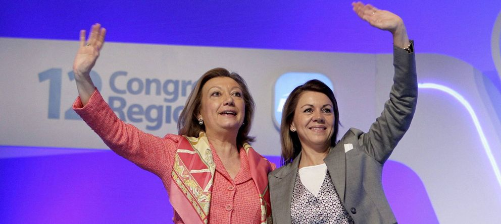 Foto: Luis Fernanda Rudi (Aragón) junto a María Dolores de Cospedal (Castilla-La Mancha) en una imagen de archivo (EFE)