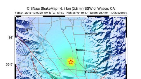 Un terremoto de magnitud 6,4 sacude el sur de California