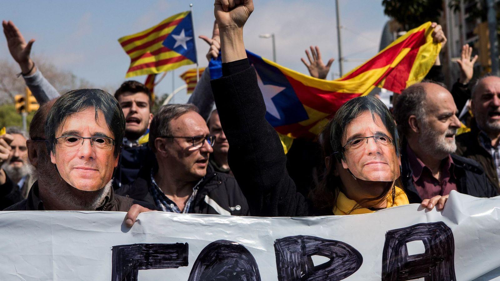 Foto: Protestas de los CDR. (EFE)
