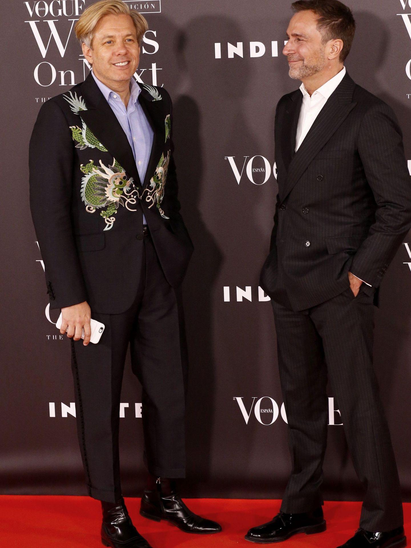 Michael Smith y James Costos, en una entrega de premios, cuando residían en España. (EFE)