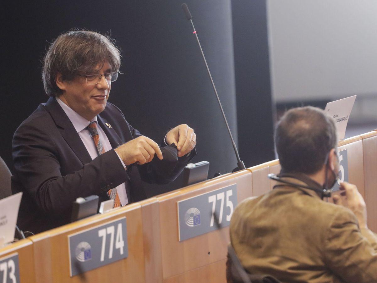 Foto: El 'expresident' Carles Puigdemont, en el Parlamento Europeo. (EFE)