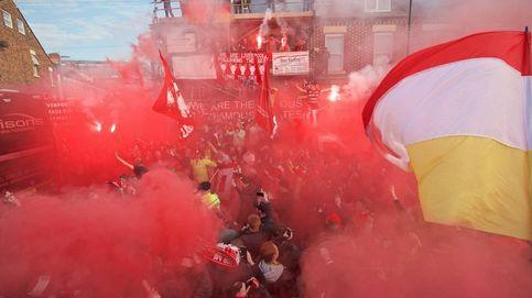 Apedrean el autobús del Real Madrid a su llegada al estadio de Anfield