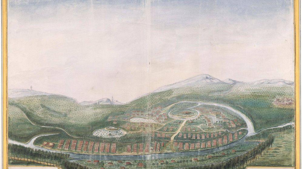 Foto: La conquista de Camboya en un antiguo grabado.