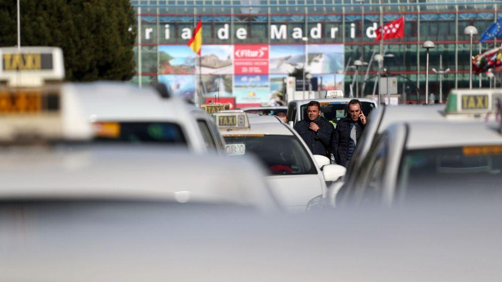 Foto: Protesta de taxistas en enero (Reuters)