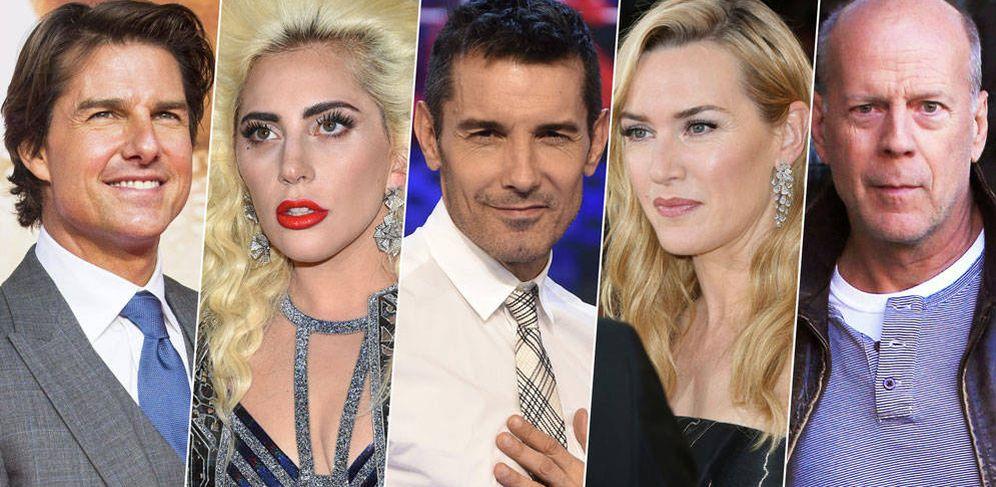 Foto: Tom Cruise, Lady Gaga, Jesús Vázquez, Kate Winslet y Bruce Willis