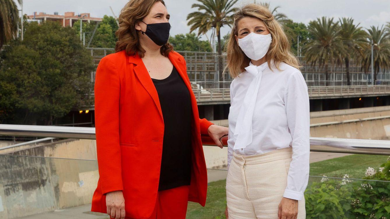 Colau lidera con Díaz la recomposición de las alianzas de Unidas Podemos