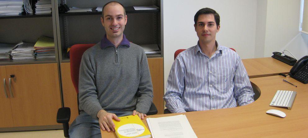 Foto: Daniel Peralta y Alberto Enciso, investigadores del Instituto de Ciencias Matemáticas (ICMAT)