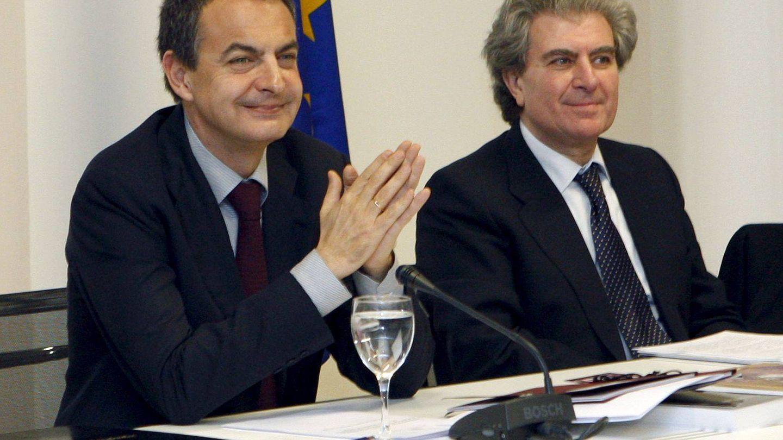 Rodríguez Zapatero junto a Molina. (Efe)