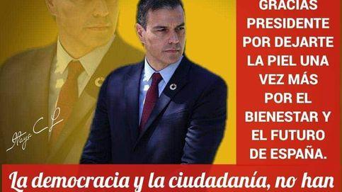 Por el titánico trabajo, gracias: los chats del PSOE se llenan de cartelas pro Sánchez