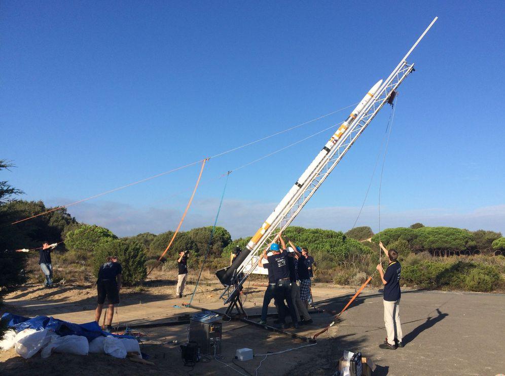 Foto: Un proyecto de la holandesa Universidad de Delft reanudó, en octubre de 2015, los lanzamientos desde la base de El Arenosillo. (INTA)