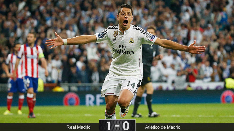 Chicharito rompió la muralla del Atlético y mete al Madrid en semis de Champions