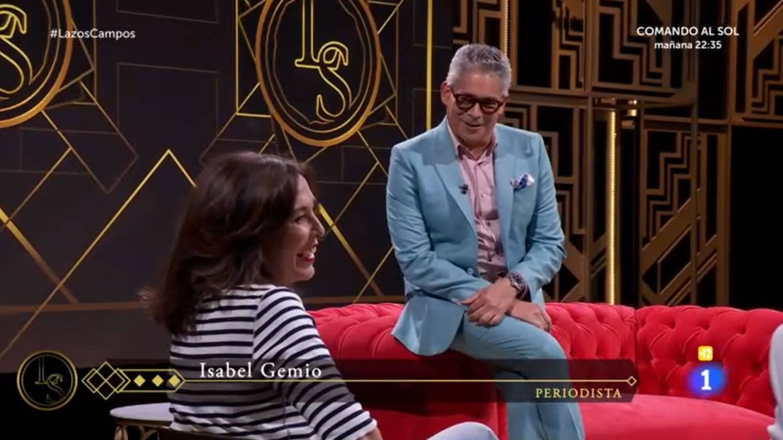 Isabel Gemio y Boris Izaguirre, en 'Lazos de sangre'. (Mediaset)