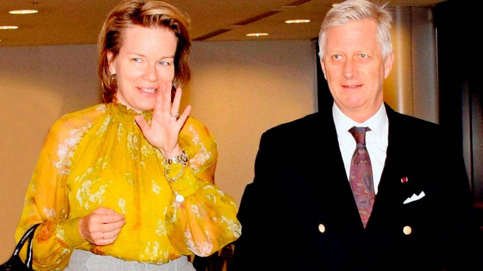Foto: Felipe y Matilde de Bélgica, a su llegada. (EFE)