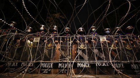 Manifestantes prodemoecráticos en Bangkok