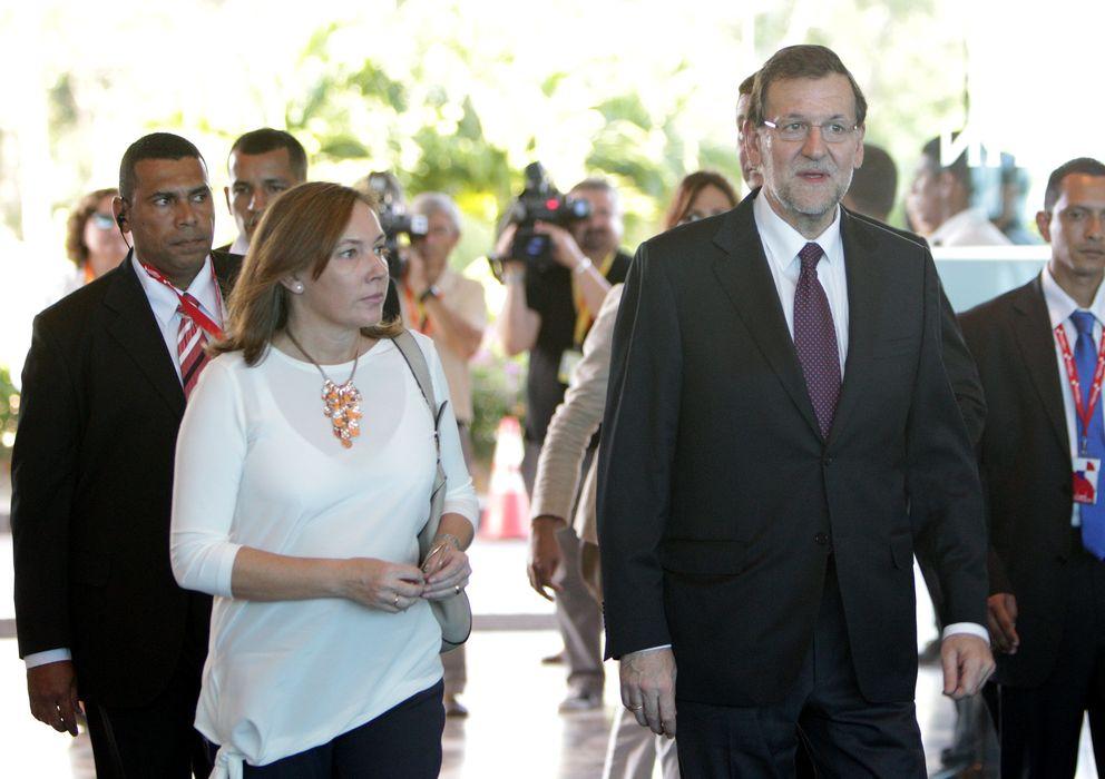 Foto: Mariano Rajoy y su esposa Elvira Fernández ya están en Panamá. (EFE)