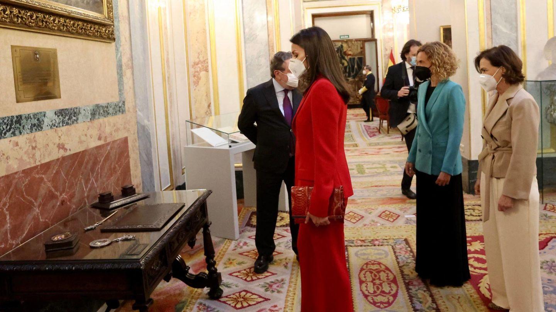 La Reina, en el acto de Clara Campoamor. (Cordon Press)