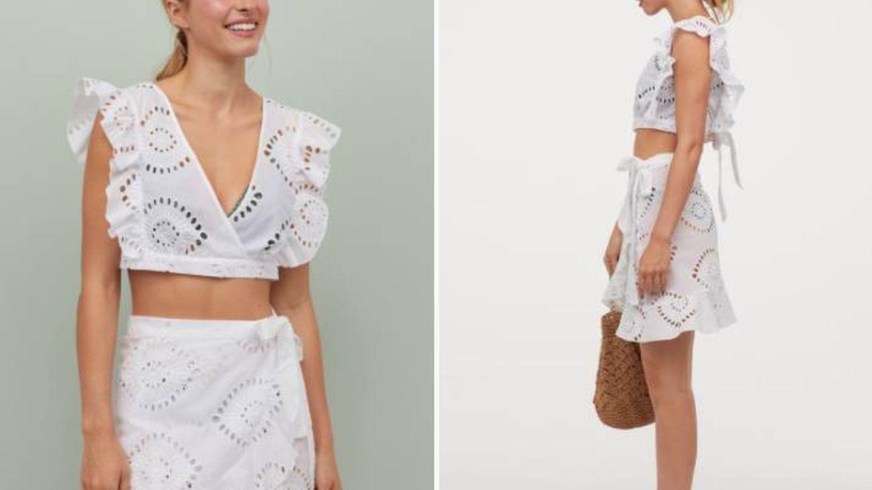 Conjunto de top y falda de HyM. (Cortesía)