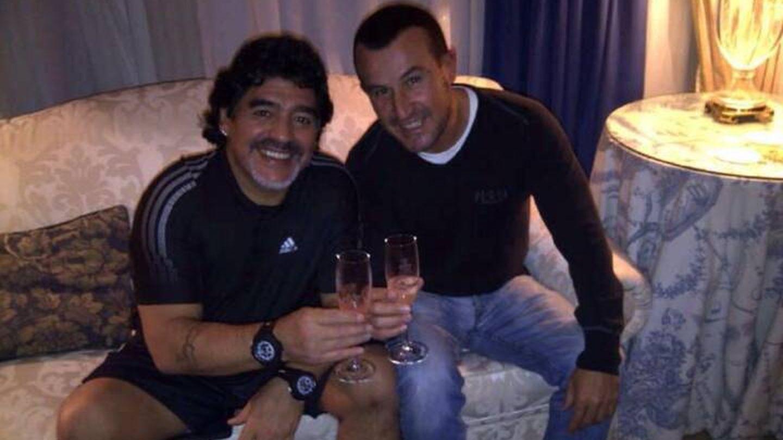 Richy Castellanos con Diego Armando Maradona. (Foto cortesía de Richy Castellanos)