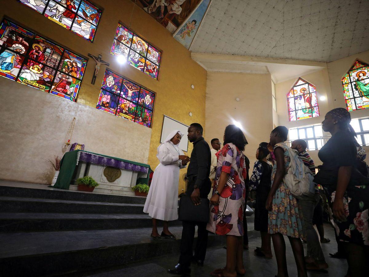 Foto: Una iglesia en Abuja (Nigeria), el pasado Miércoles de ceniza. (Reuters)