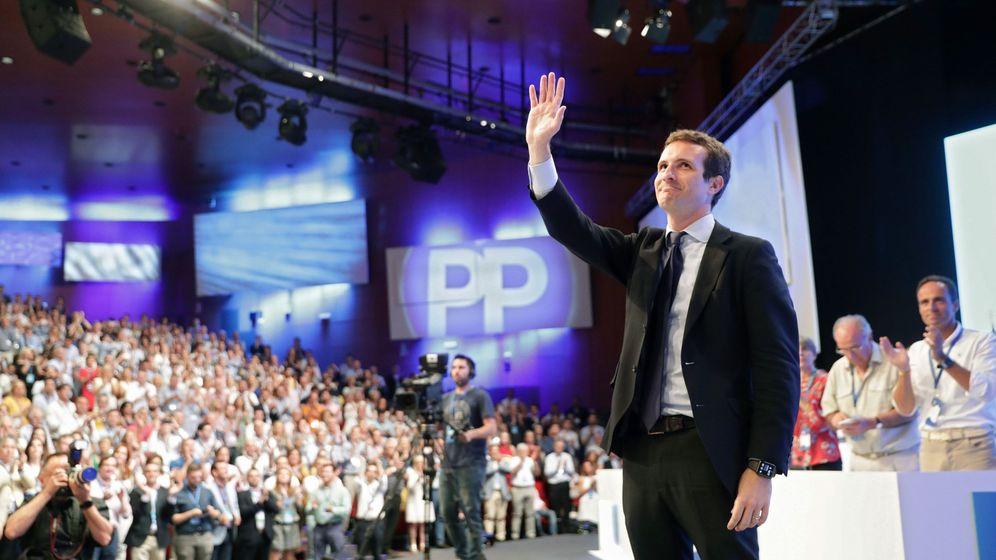 Foto: Pablo Casado, tras ser elegido nuevo presidente del PP. (EFE)