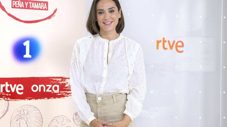 Tamara Falcó, durante la presentación del programa 'Cocina al punto'. (RTVE)