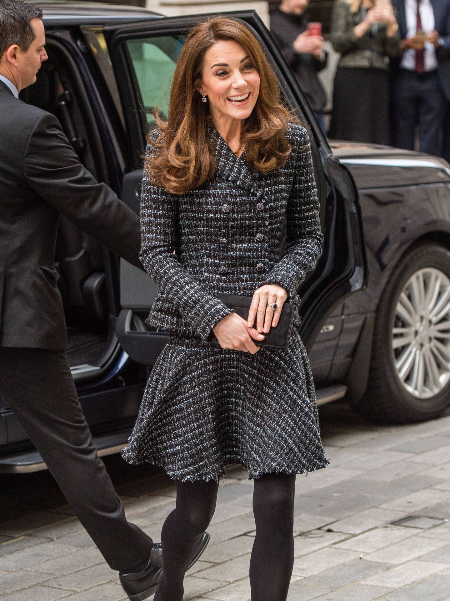 Kate Middleton luce conjunto de tweed. (Getty)