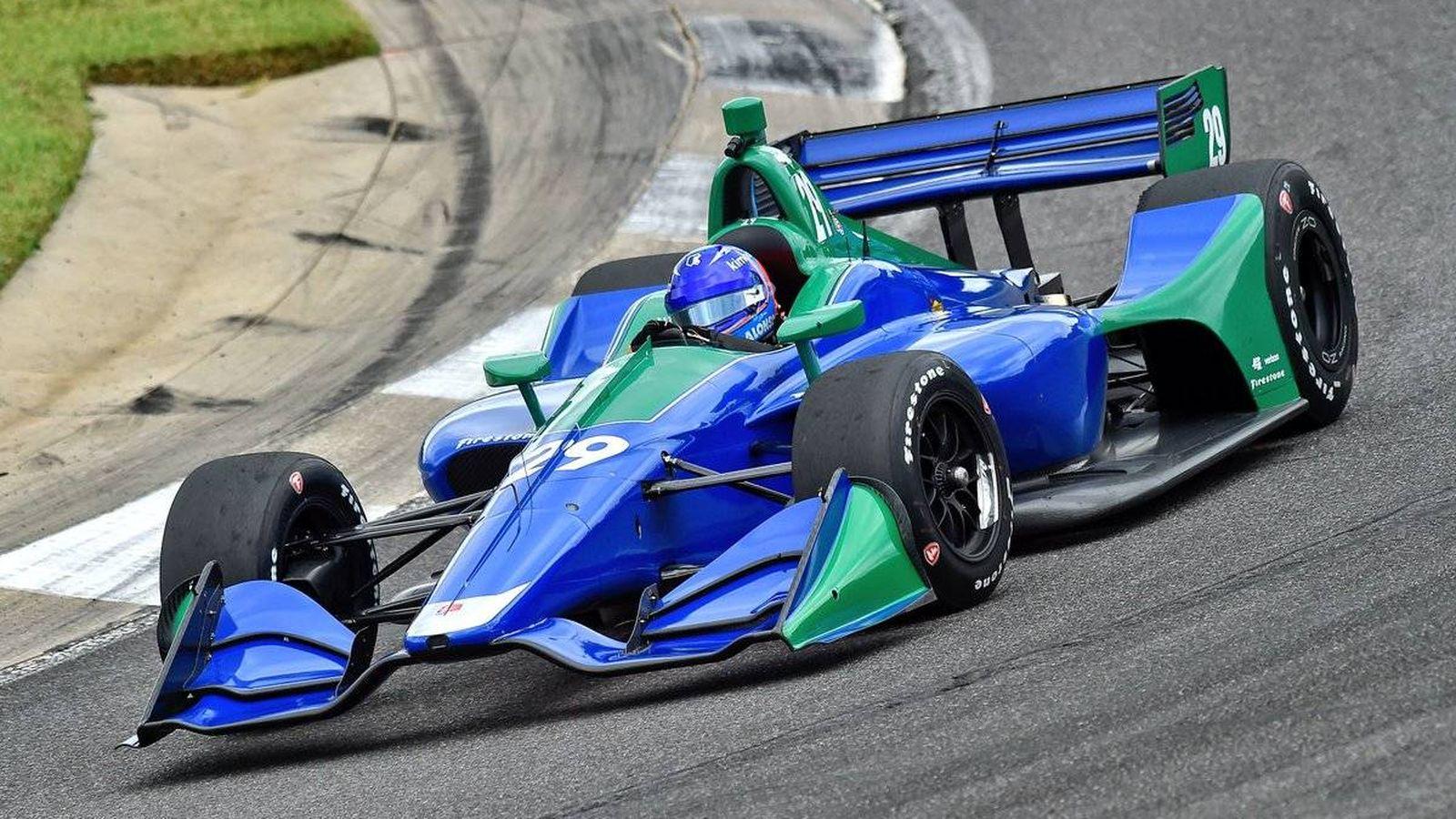Foto: Fernando Alonso durante su prueba con la escudería Andretti Autosport