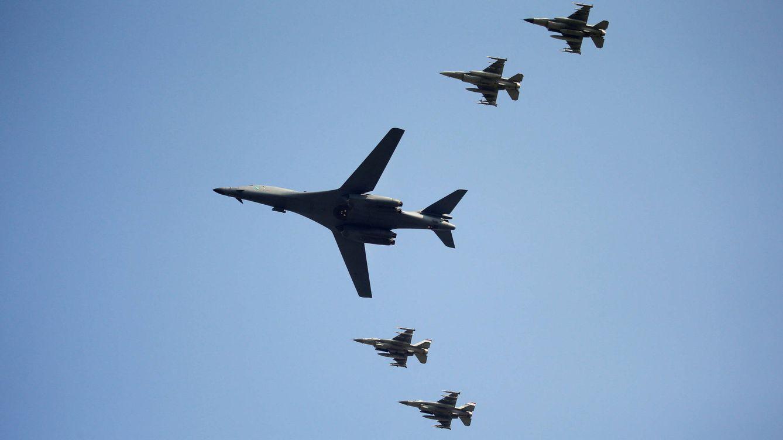 Foto: Bombarderos estadounidenses B-1B. (Reuters)