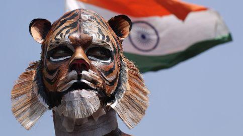 Protesta de PETA en Nueva Delhi