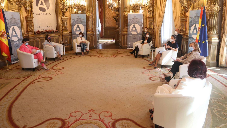 La reina Letizia, en Casa de América. (Casa de S. M. el Rey)