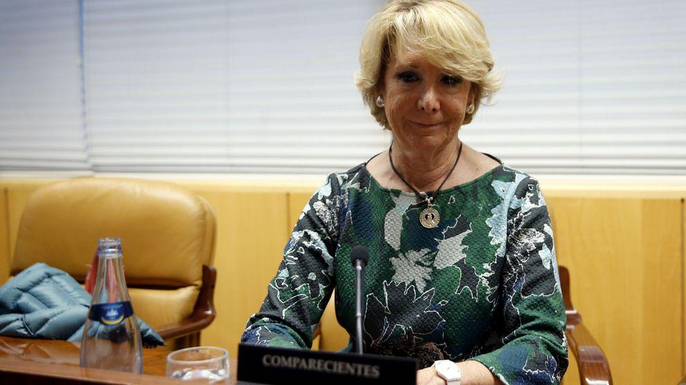 Aguirre en la comisión de corrupción: empieza hablando de Errejón y Monedero