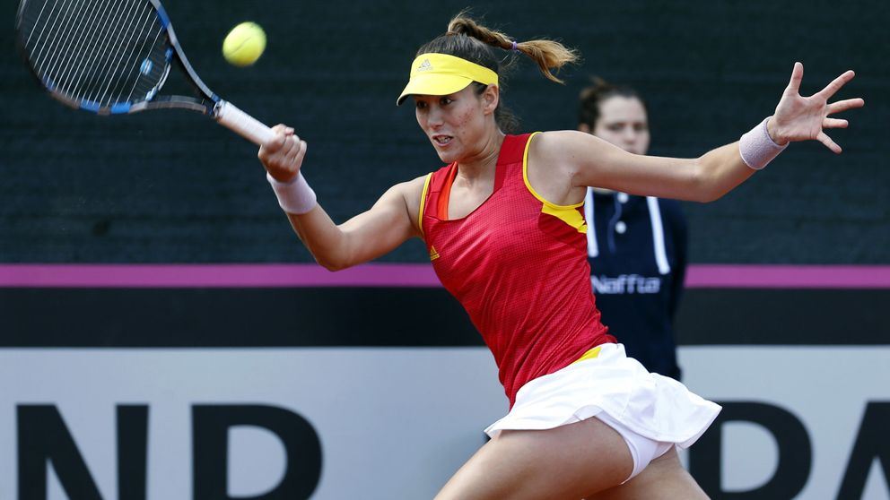 Garbiñe da a España el ascenso al Grupo Mundial de Fed Cup