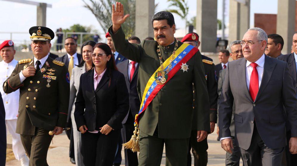 Foto: Maduro, antes del ataque. (Reuters)