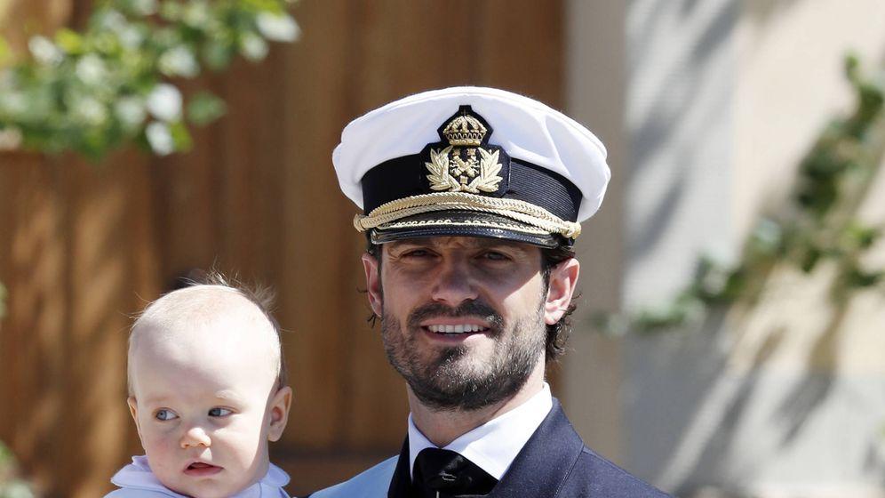 Foto: El príncipe Carlos Gustavo y Gabriel en una foto de archivo. (Getty)