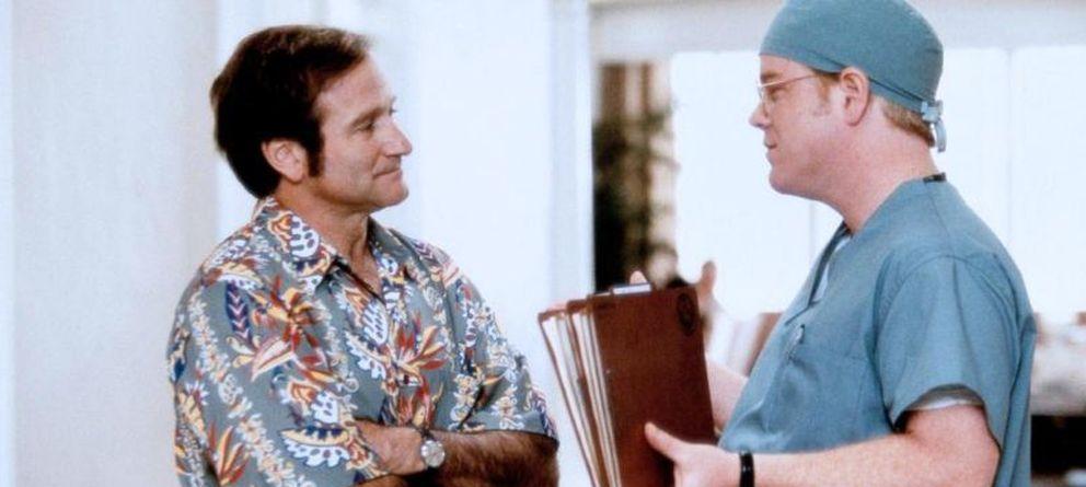 Foto: Robin Williams y Philip Seymour Hoffman en 'Patch Adams'