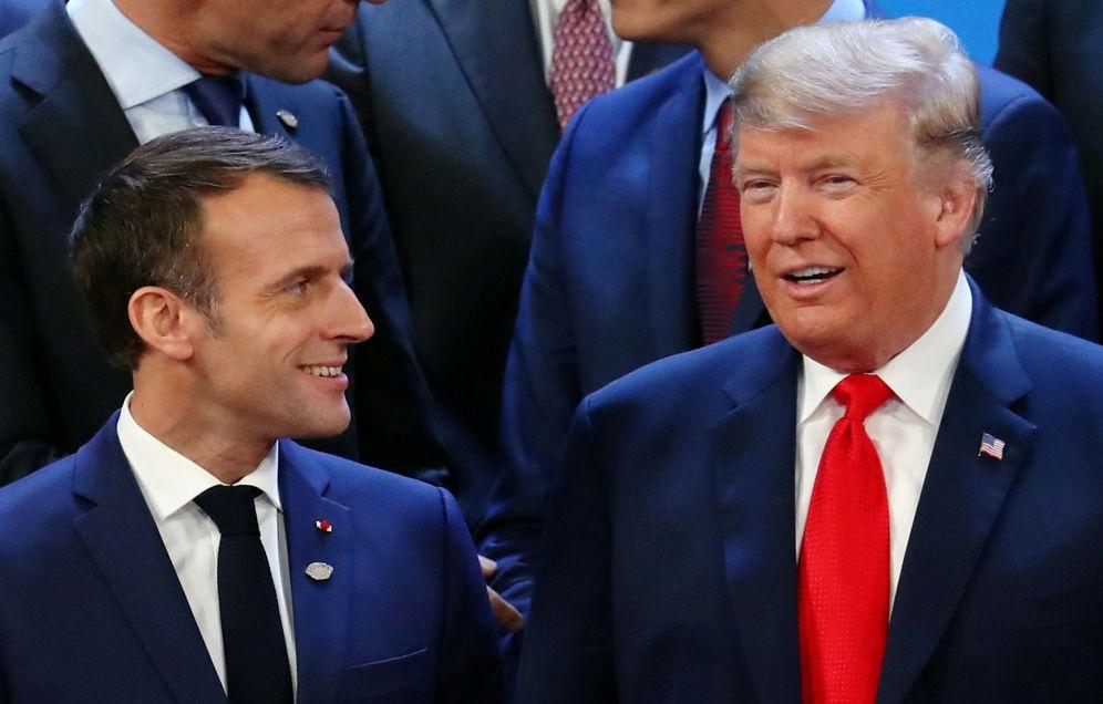 Foto: Macron y Trump, en la reunión del G20. (Marcos Brindicci/Reuters)