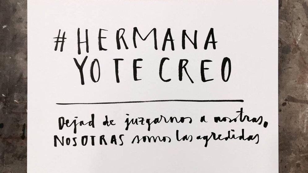 Foto: Cartel de #HermanaYoTeCreo | Twitter: @paulaboneti
