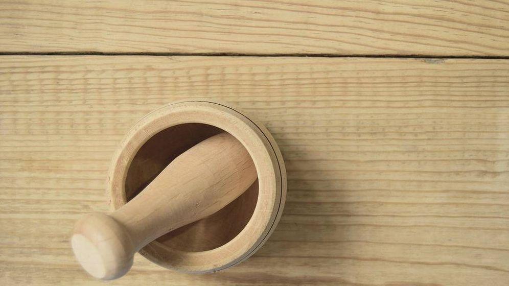 Foto: Mortero de madera.