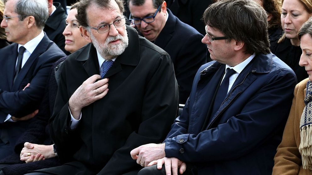 Puigdemont y Rajoy presiden juntos el homenaje por Germanwings