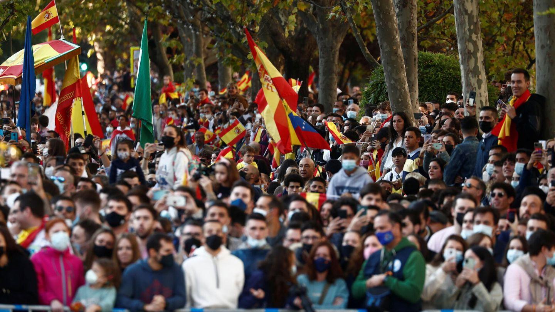 El público ha vuelto al Paseo de la Castellana para este 12-O. (Reuters)