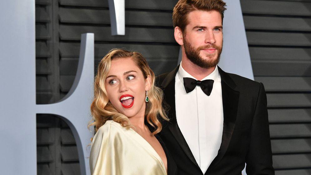 Foto: Miley y Liam: adorables. (Getty)