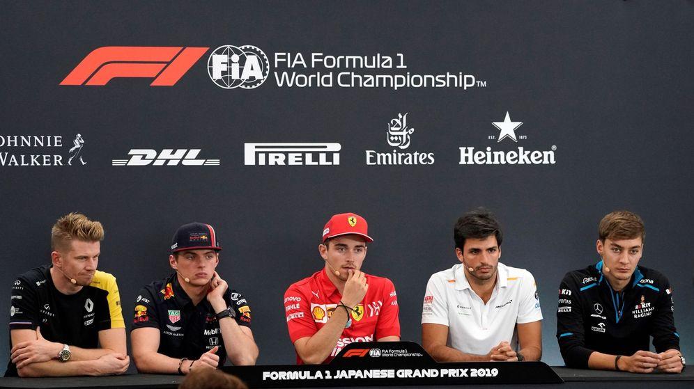Foto: Los pilotos presentes en la rueda de prensa del Gran Premio de Japón hablaron sobre la llegada del tifón Hagibis. (EFE)