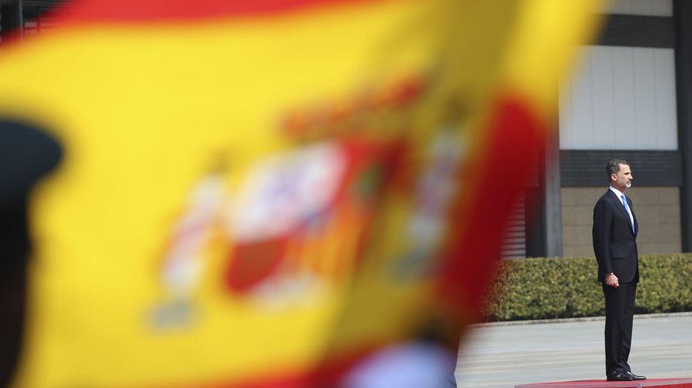 Foto: Los reyes de España escuchan el himno nacional en su visita oficial a Japón   EFE