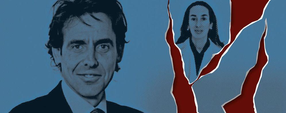 Foto: Javier López Madrid y Elisa Pinto Romero, en un fotomontaje realizado por 'Vanitatis'
