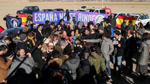El cierre de campaña de ERC frente a la cárcel de Estremera, en imágenes