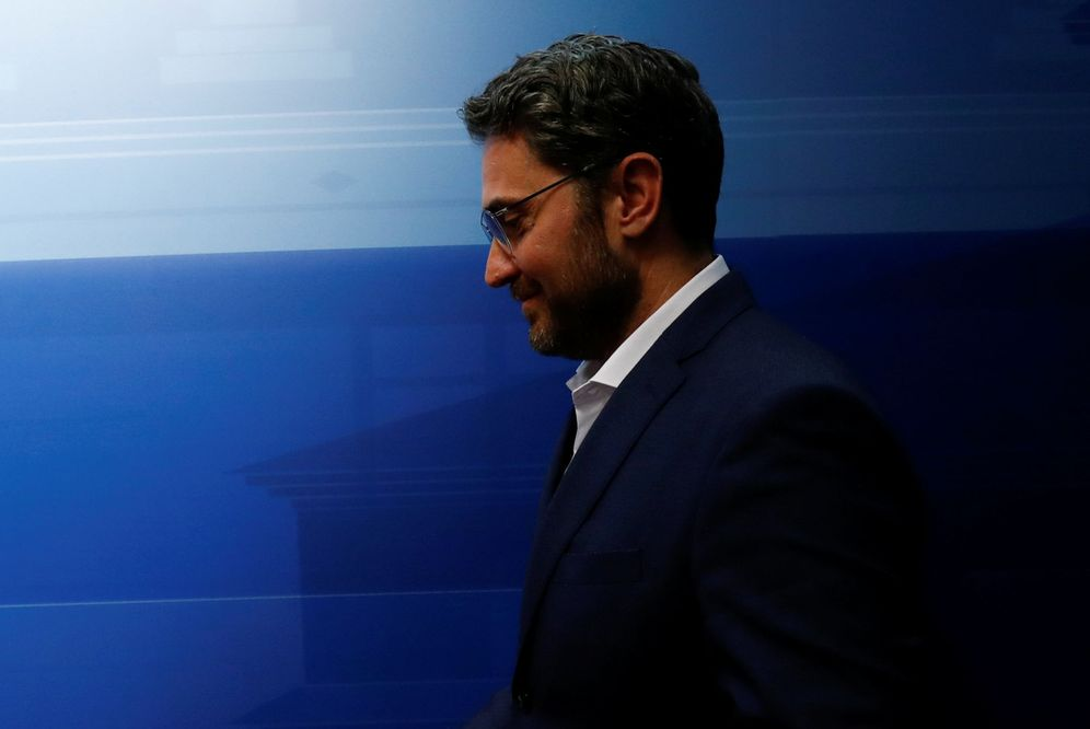 Foto: Màxim Huerta, en la sede del Ministerio de Cultura y Deporte, tras anunciar su dimisión, este 13 de junio. (Reuters)