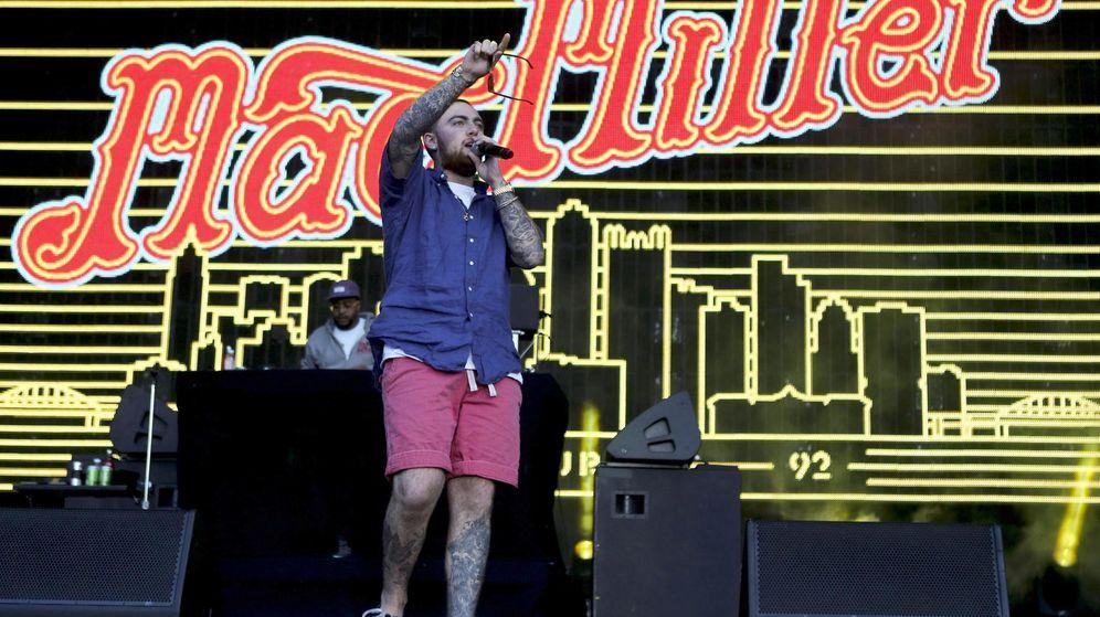 Foto: El rapero Mac Miller durante su actuación en el Rock in Rio de 2014. (Efe)